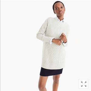 J. Crew Oversized Patchwork Crewneck Tunic Sweater